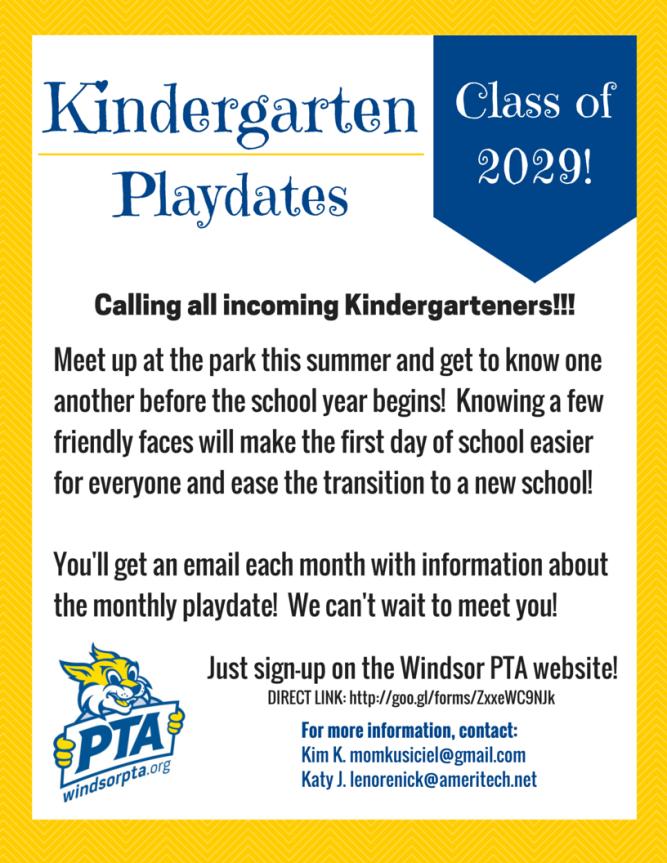 Kindergarten Park Playdates