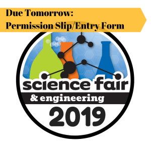 2019 science fair entry form due